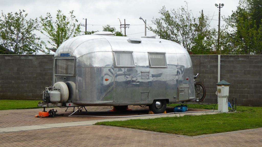 Airstream Travel Trailer at French Quarter RV Resort