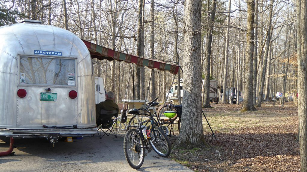 Airstream Travel Trailer at Mammoth Cave Campground