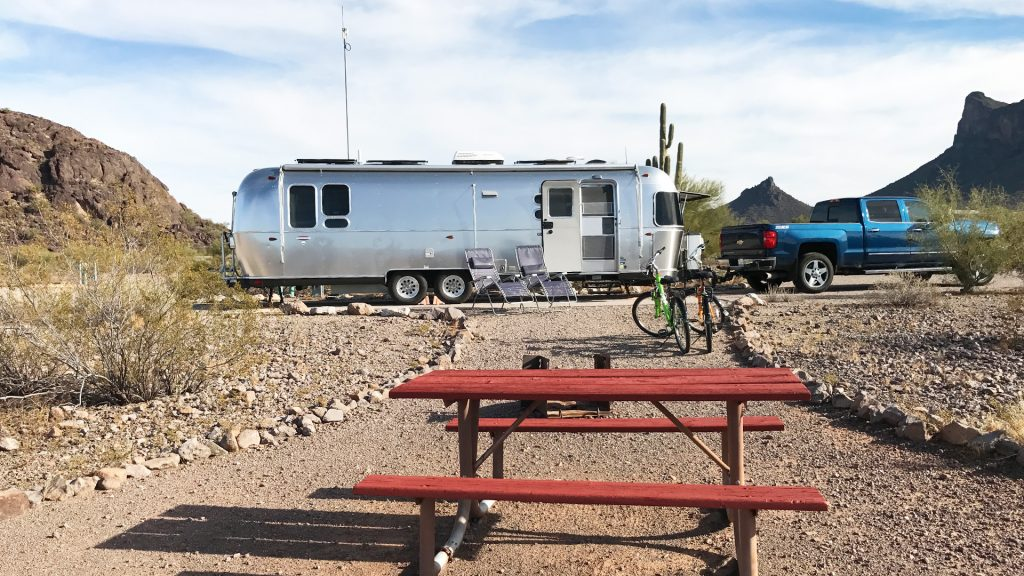 Airstream Travel Trailer at Picacho Peak State Park