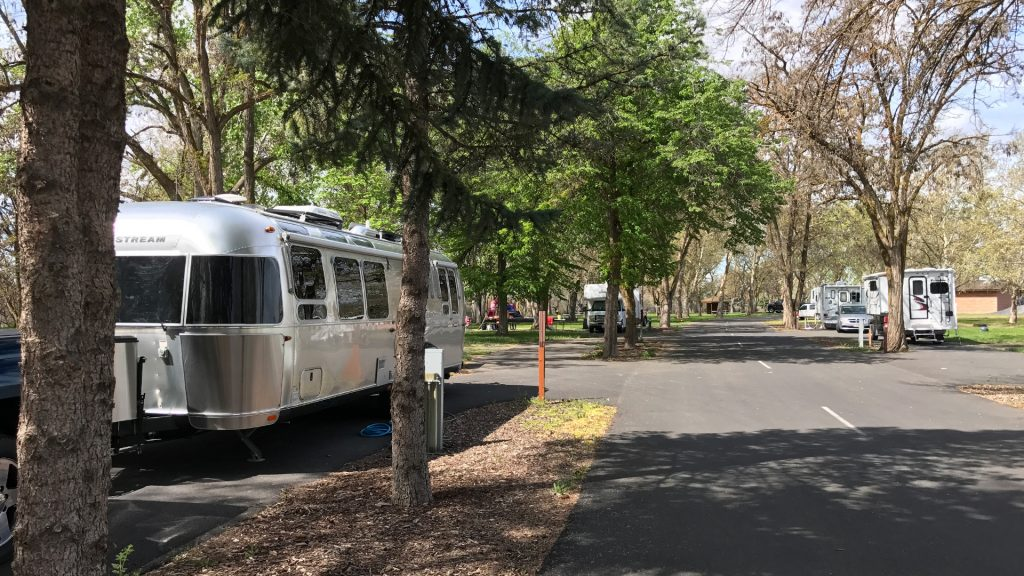 Airstream at Plymouth Park Campground, Army Corps Of Engineers