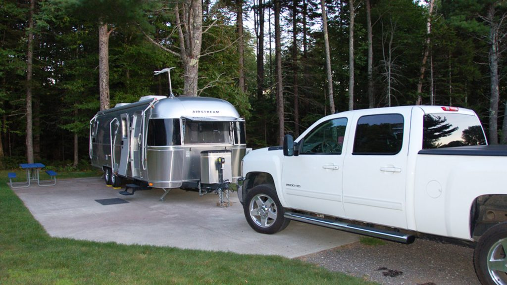 Airstream Travel Trailer at Smugglers Den Campground
