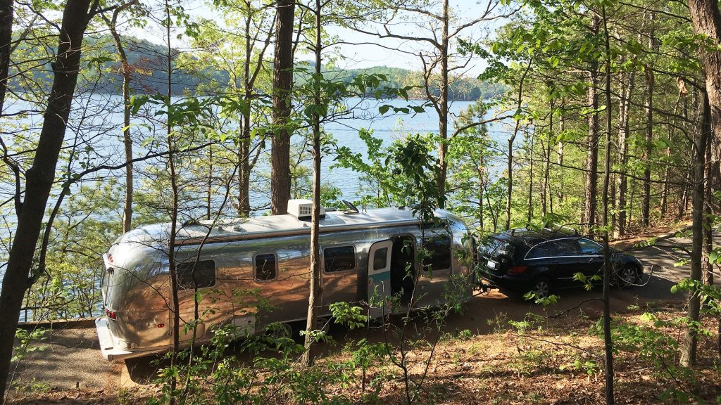 Airstream Travel Trailer at Woodring Branch Campground, Army Corps Of Engineers