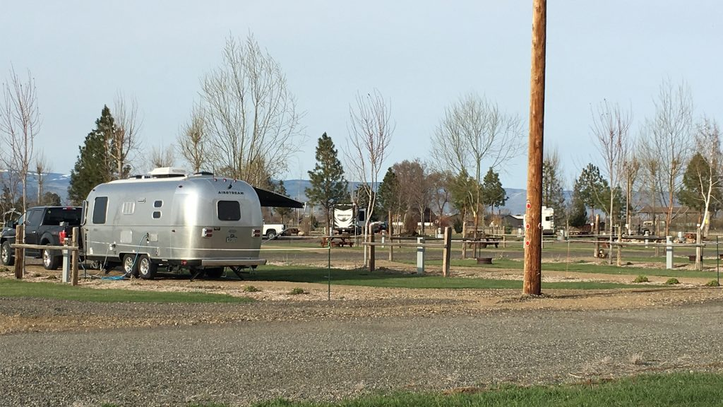 Airstream Travel Trailer at Yakima River RV Park