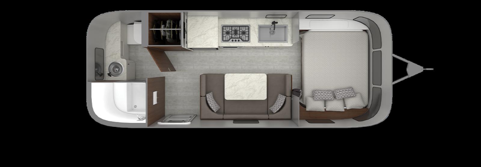 Caravel 22FB Floor Plan | Travel