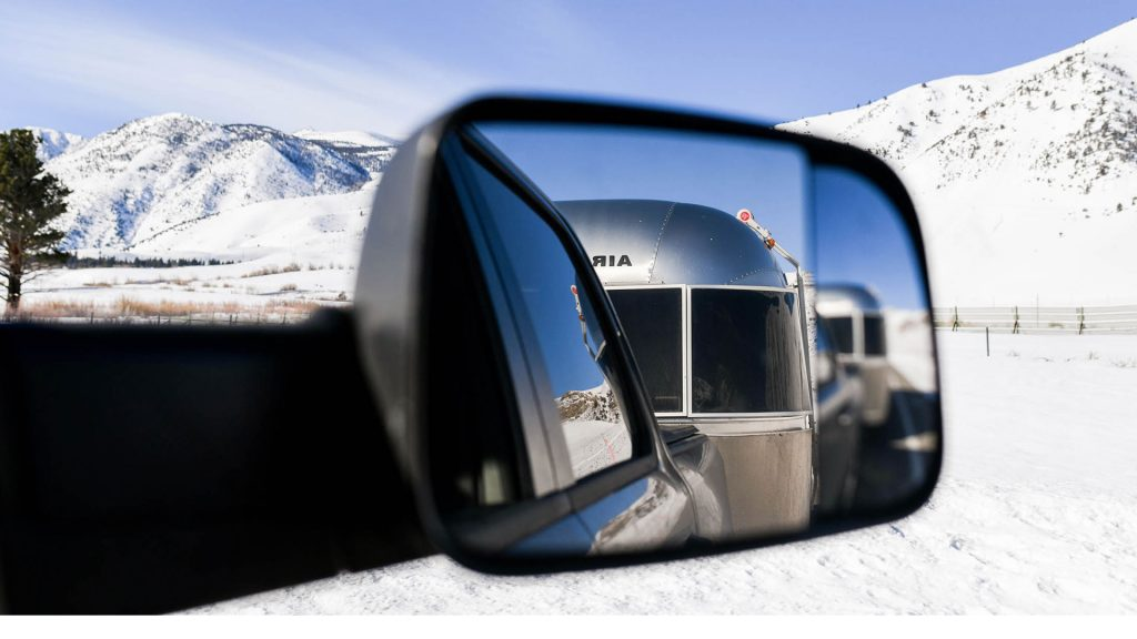 Airstream Travel Trailer Rearview Mirror Driving