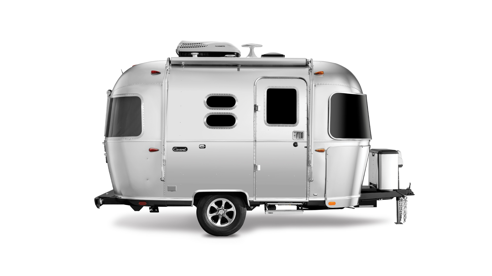 Airstream Caravel Camper Curb Side View