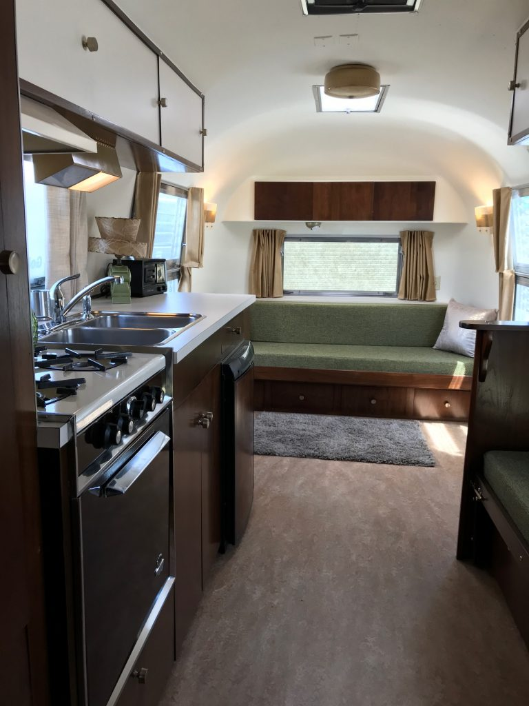 Airstream Gold Stripe Travel Trailer Restoration Interior