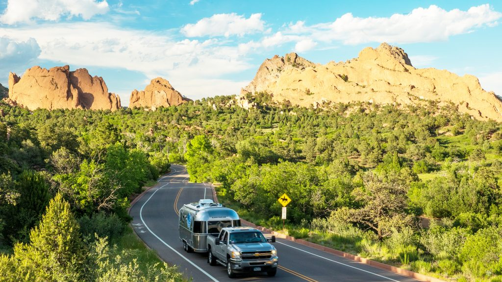 Airstream and LifeStraw Driving Roadway