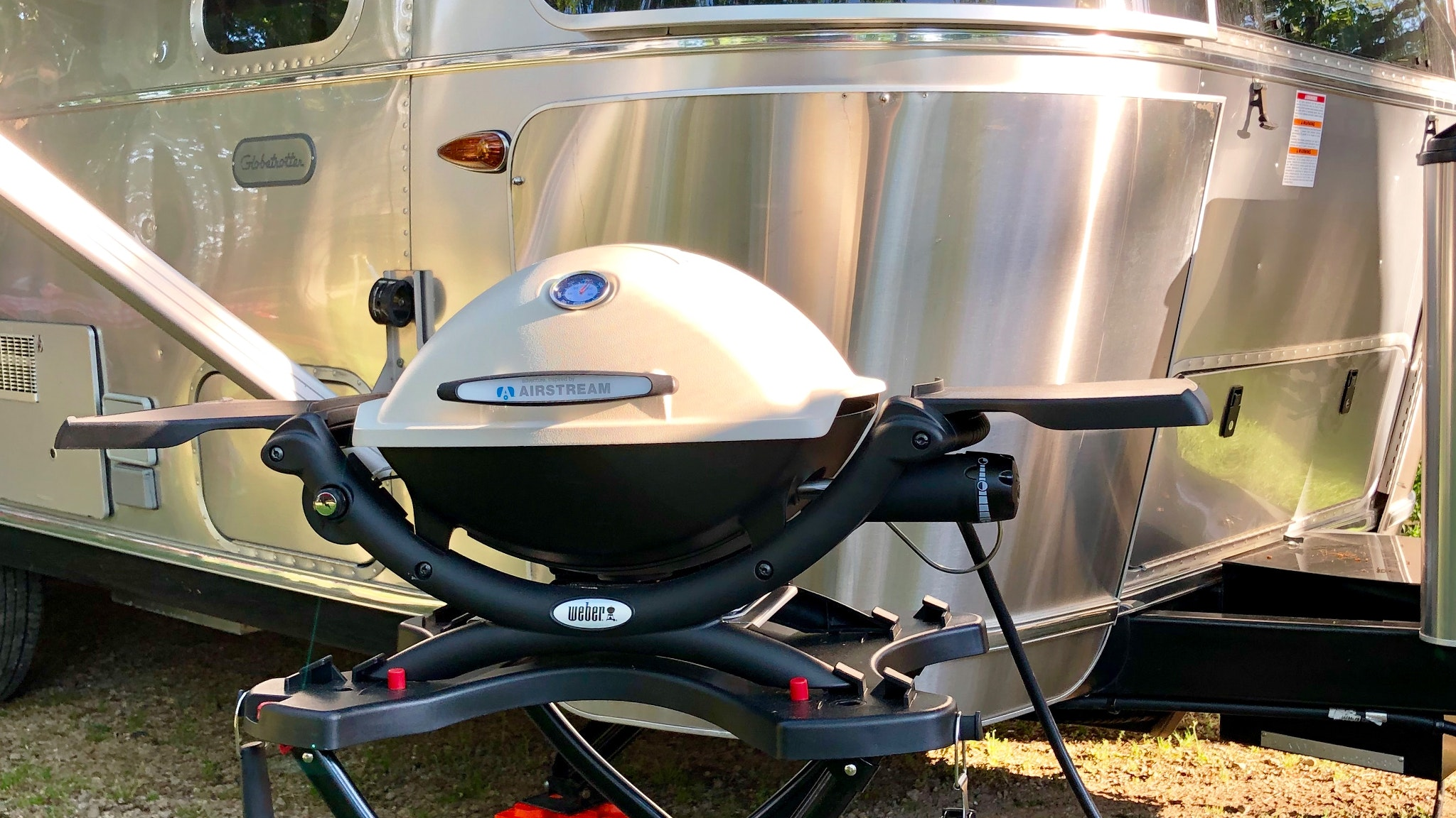 Airstream and Weber Grill LP Gas