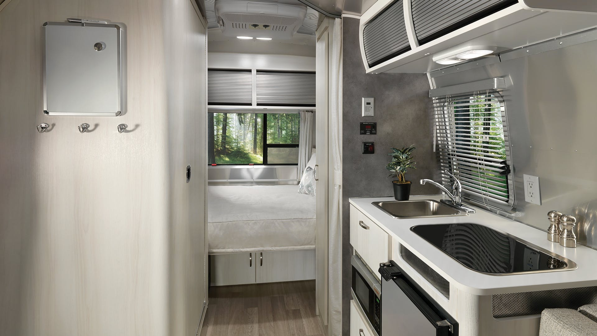 2020 Airstream Bambi 16RB Interior Dune Decor Kitchen and Galley