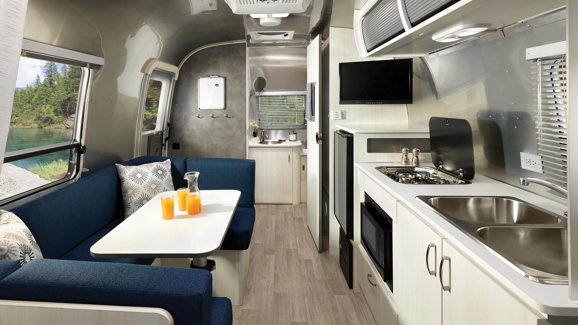 Airstream Travel Trailer Motorhome Bamboo Coaster Set 5 pcs Laser Eng.