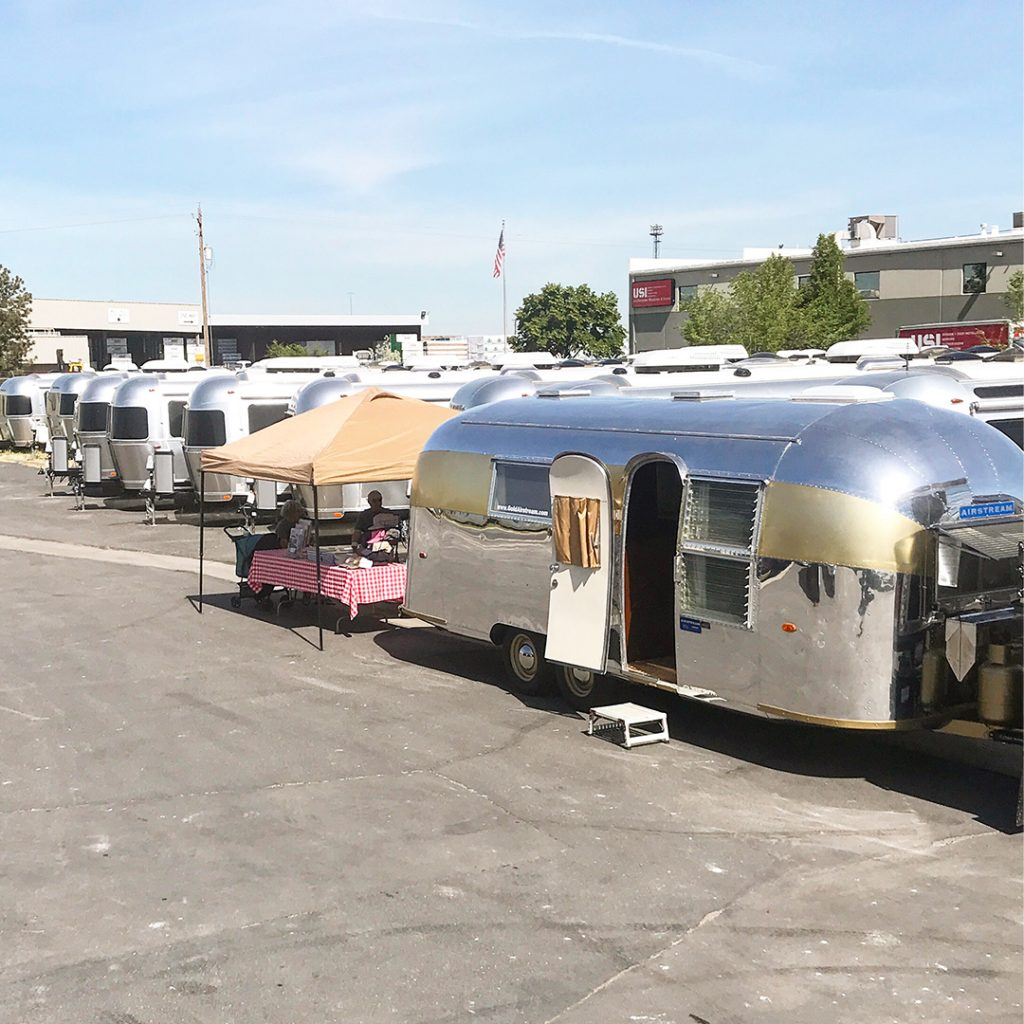 Gold-Stripe-Airstream-in-Utah