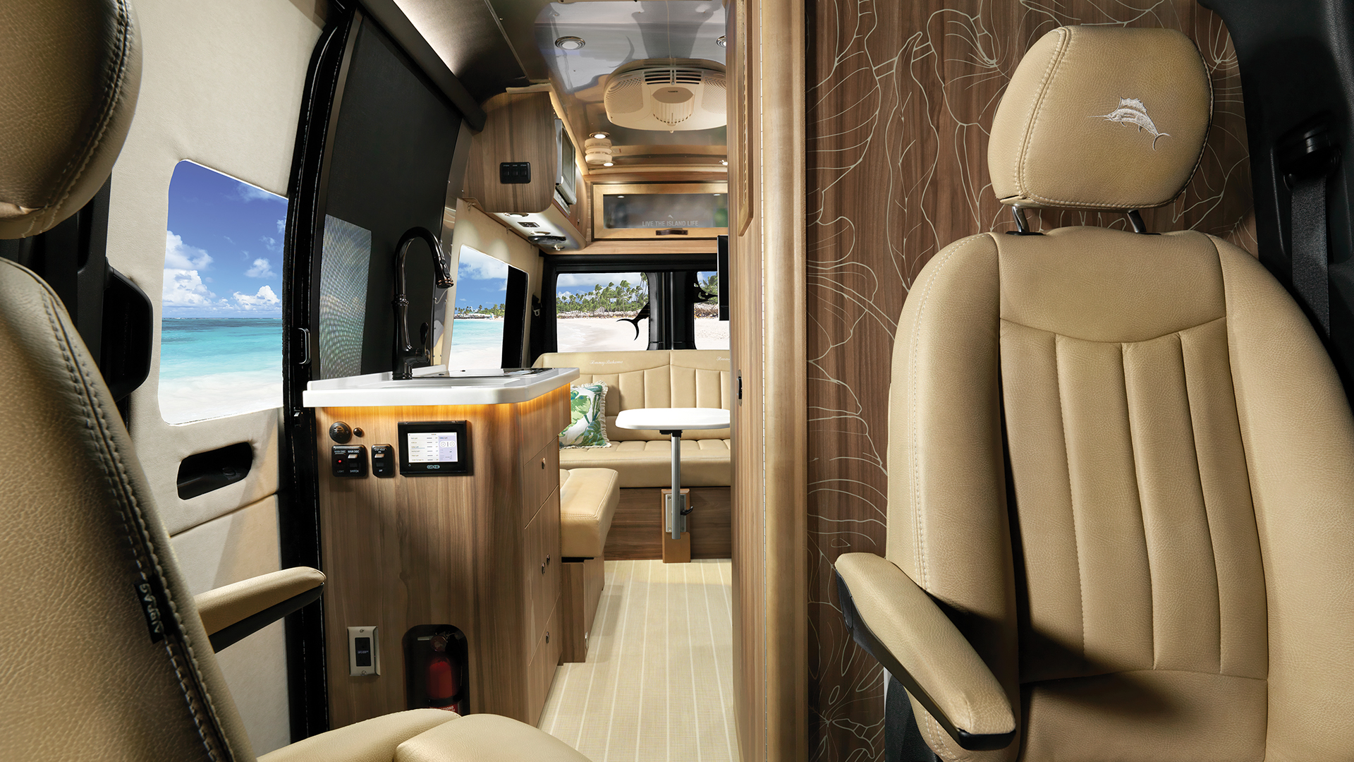Airstream-Interstate-Nineteen-Tommy-Bahama-Touring-Coach-Front-to-Back