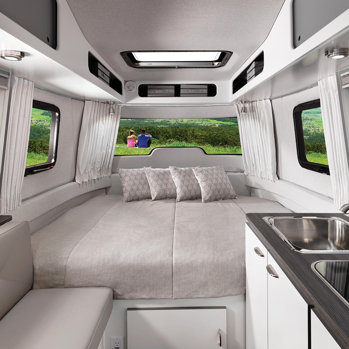 Nest 16fb Floor Plan Fiberglass Travel Trailers Airstream