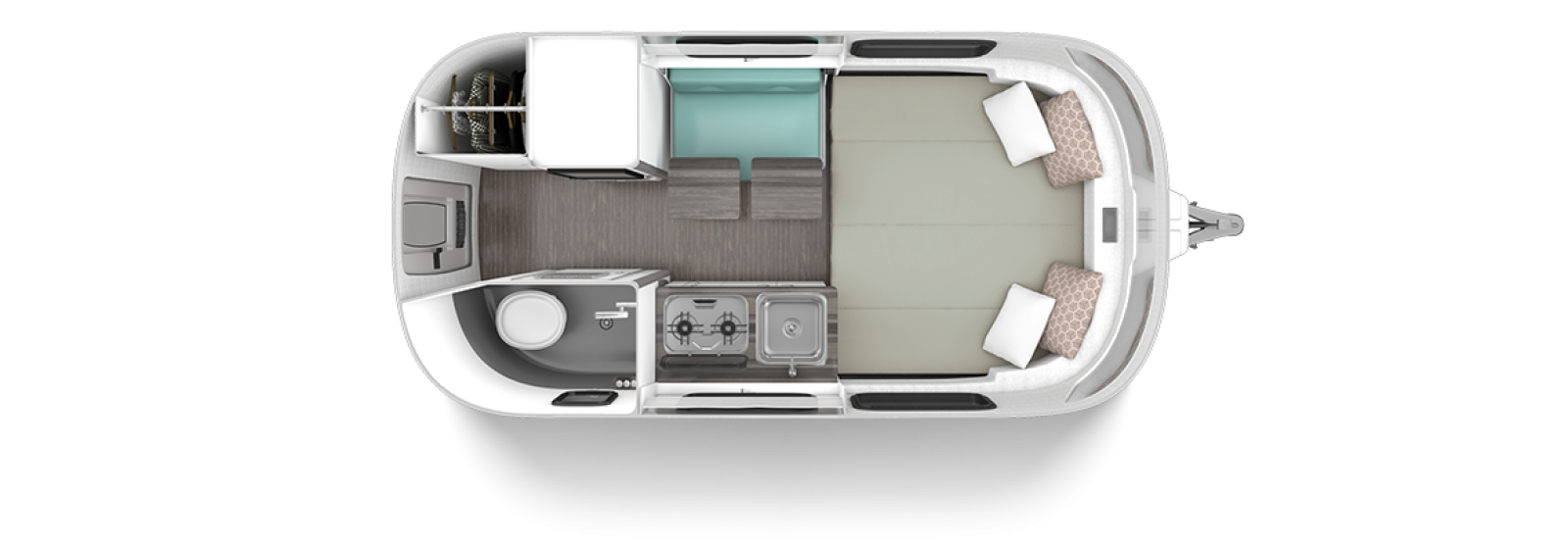 2020 Airstream Nest 16FB Clutch Blue Floor plan