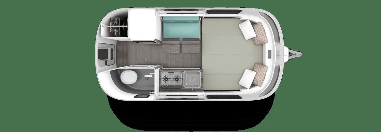 2020 Airstream Nest 16FB Clutch Blue Floor plan