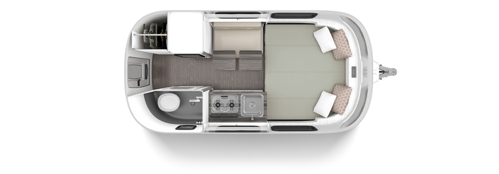 Nest by Airstream 2020 Floor Plan Wingspan White