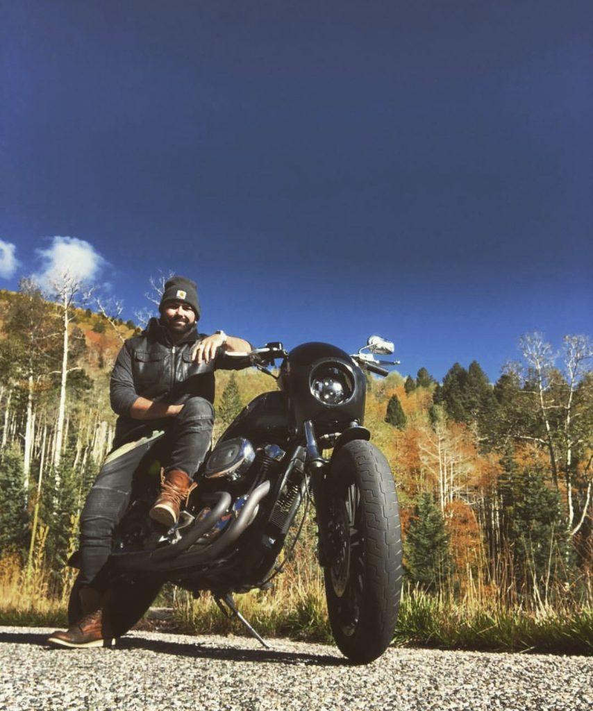 Nick Williams Ambassador on Motorcycle