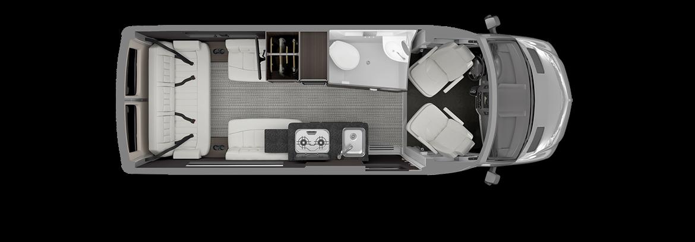 Airstream Interstate 19 Floor Plan
