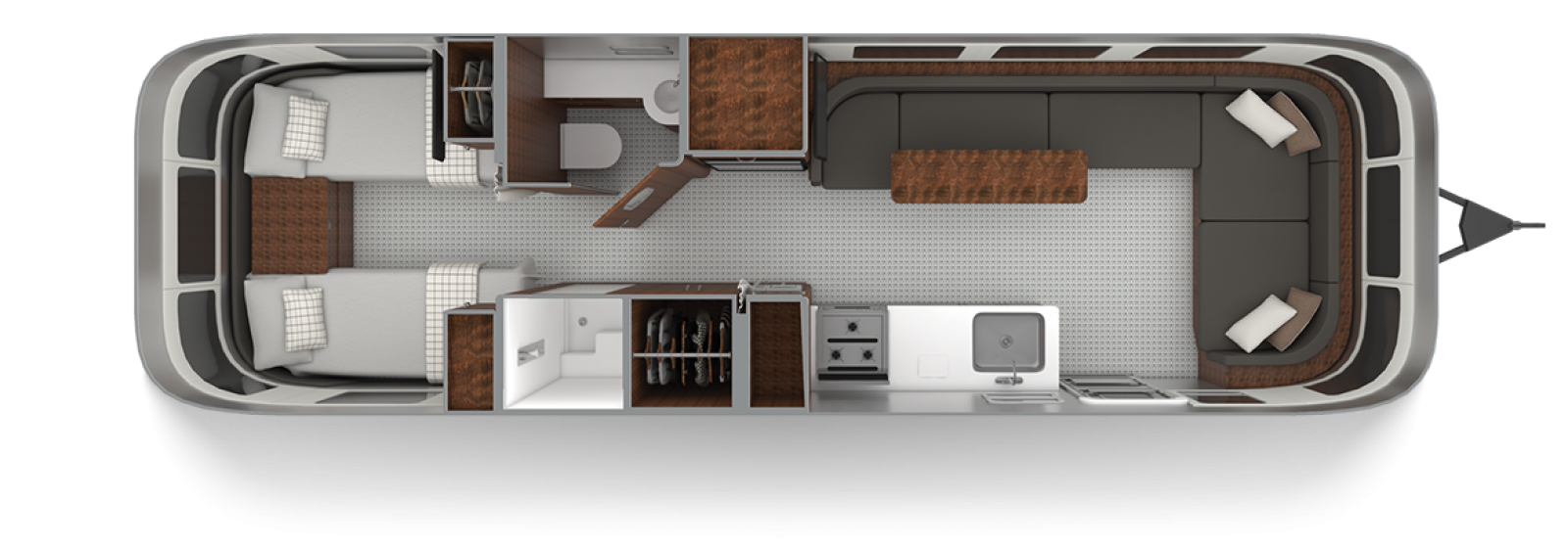 Airstream Globetrotter 30RB Twin Dublin Slate Floor Plan