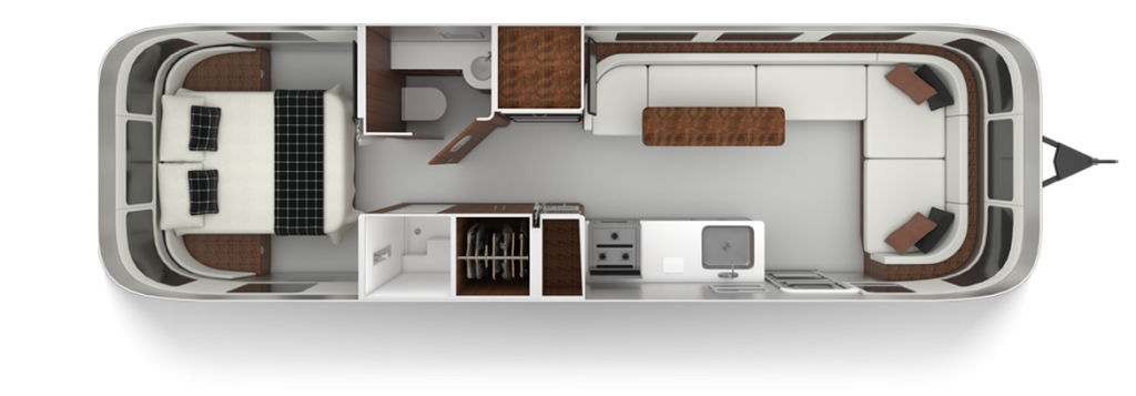 Airstream Globetrotter 30RB Twin Floor Plan