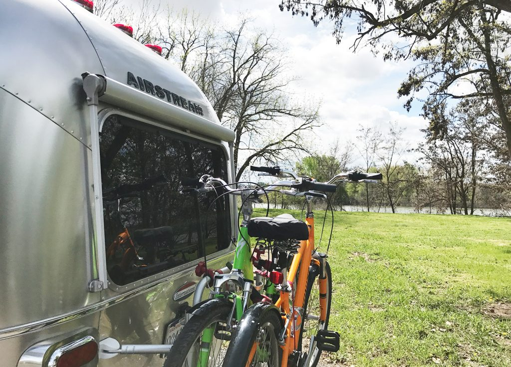 Airstream Trailer with Rear Bike Rack