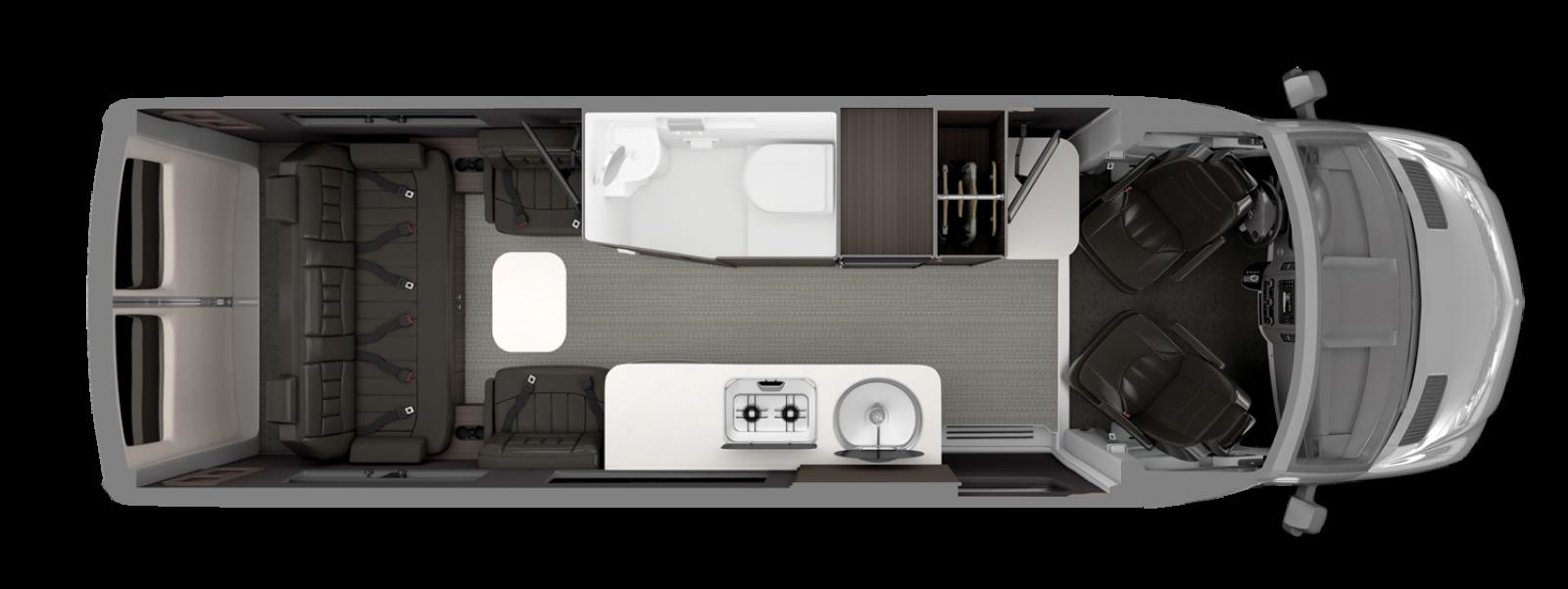 Airstream Interstate Grand Tour EXT Floorplan Formal Black