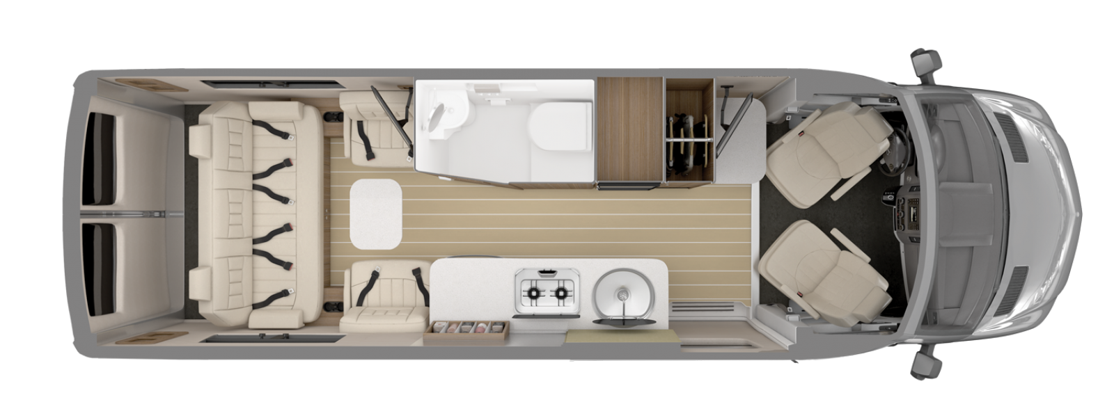 Airstream Interstate Grand Tour EXT Floorplan Tommy Bahama