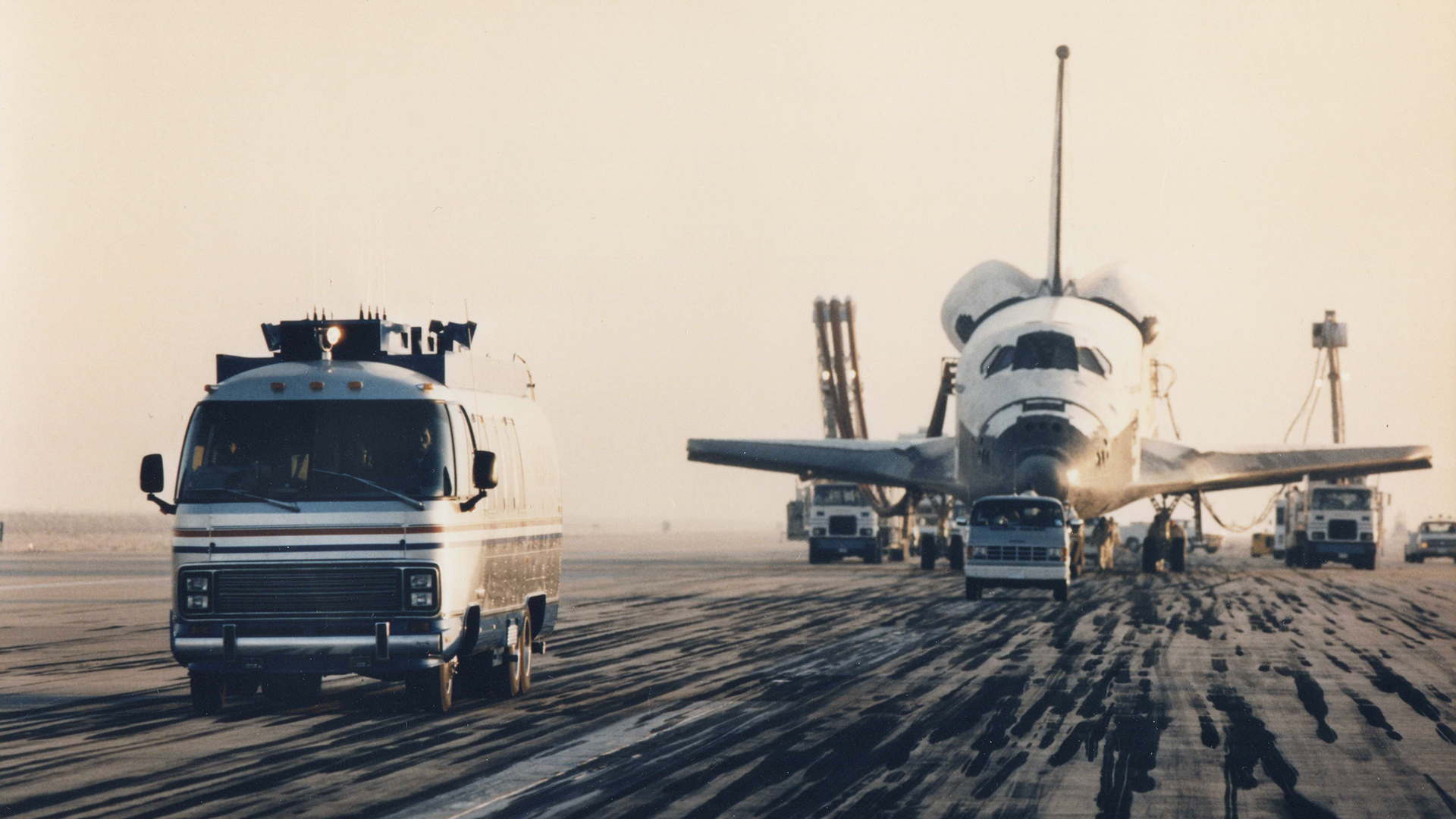 Airstream Astrovan I and NASA Space Shuttle