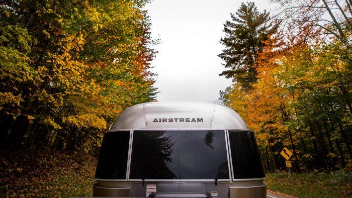 Airstream Fall Trees