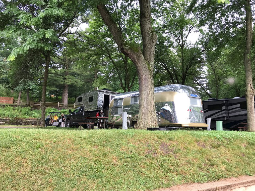 Airstream Travel Trailer at a campground