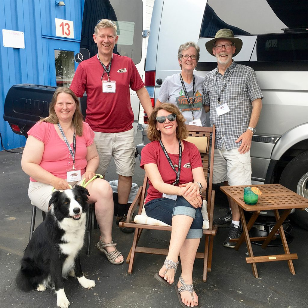 Rhonda Coleman with Touring Coach Owners Airstream