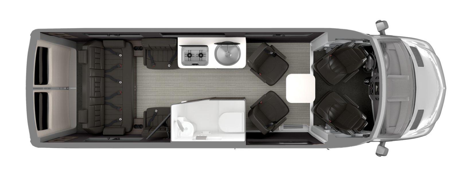 Airstream Interstate 24GL Floor Plan Formal Black