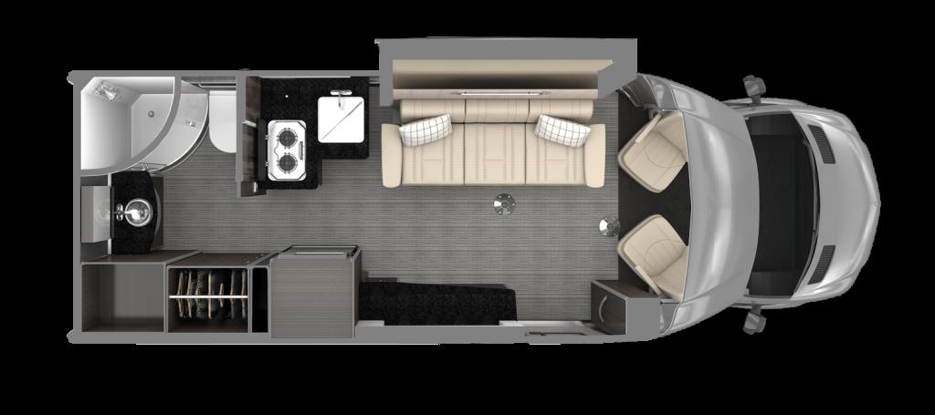 Airstream Atlas Floor Plan Modern Greige Decor