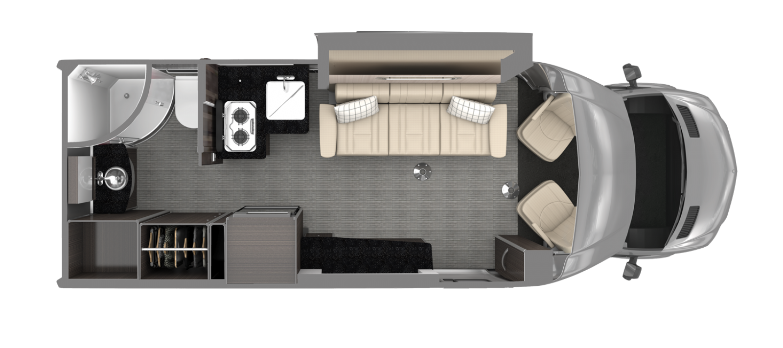 Airstream Atlas Floor Plan Modern Greige Decor
