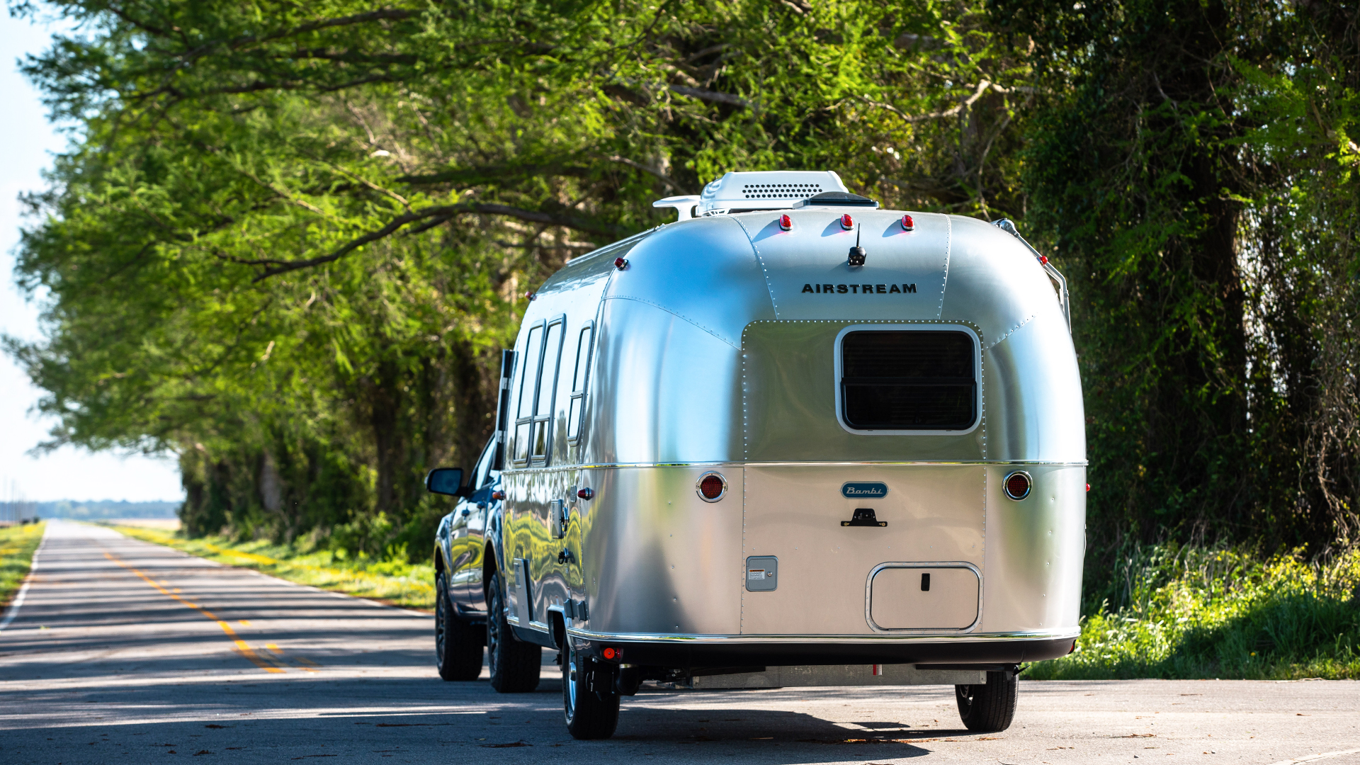 Airstream-Bambi-Travel-Trailer-Towed-by-Ford-Ranger