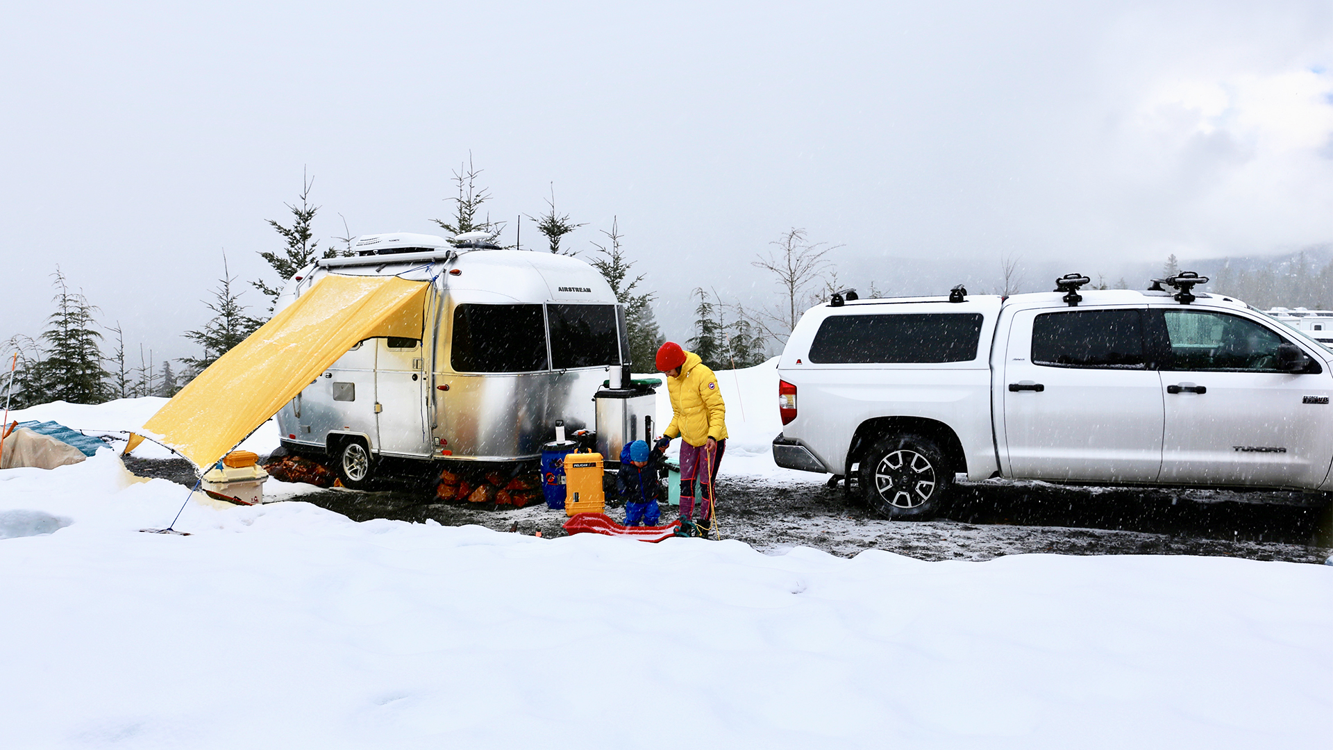 Airstream-Snow-Travel-with-Family-Sport-Trailer-RV