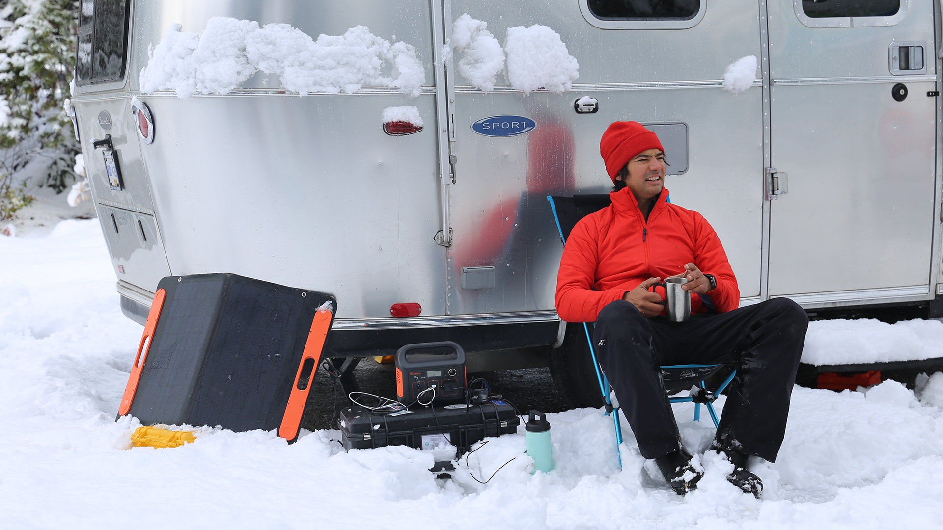 Airstreaming-in-Snow-Sport-Travel-Trailer