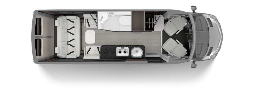 2020 Airstream Interstate Grand Tour Floor Plan Lux White