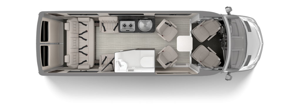 2020 Airstream Interstate Lounge Floor Plan Modern Greige