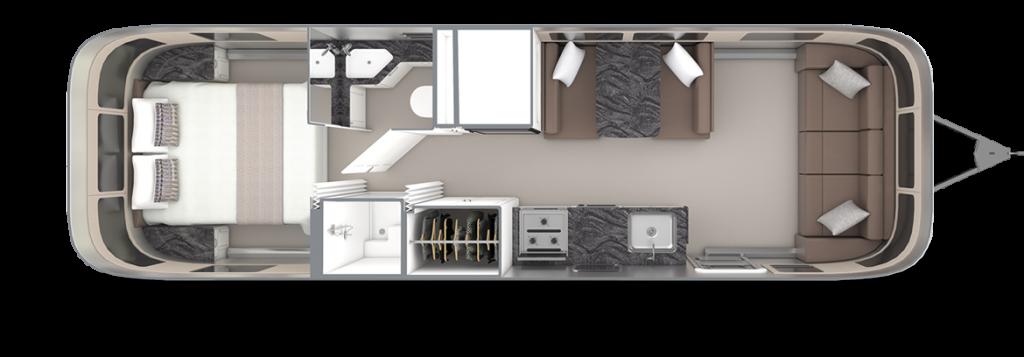 Airstream-Classic-30RB-Comfort-White-Cafe-Latte-Floor-Plan