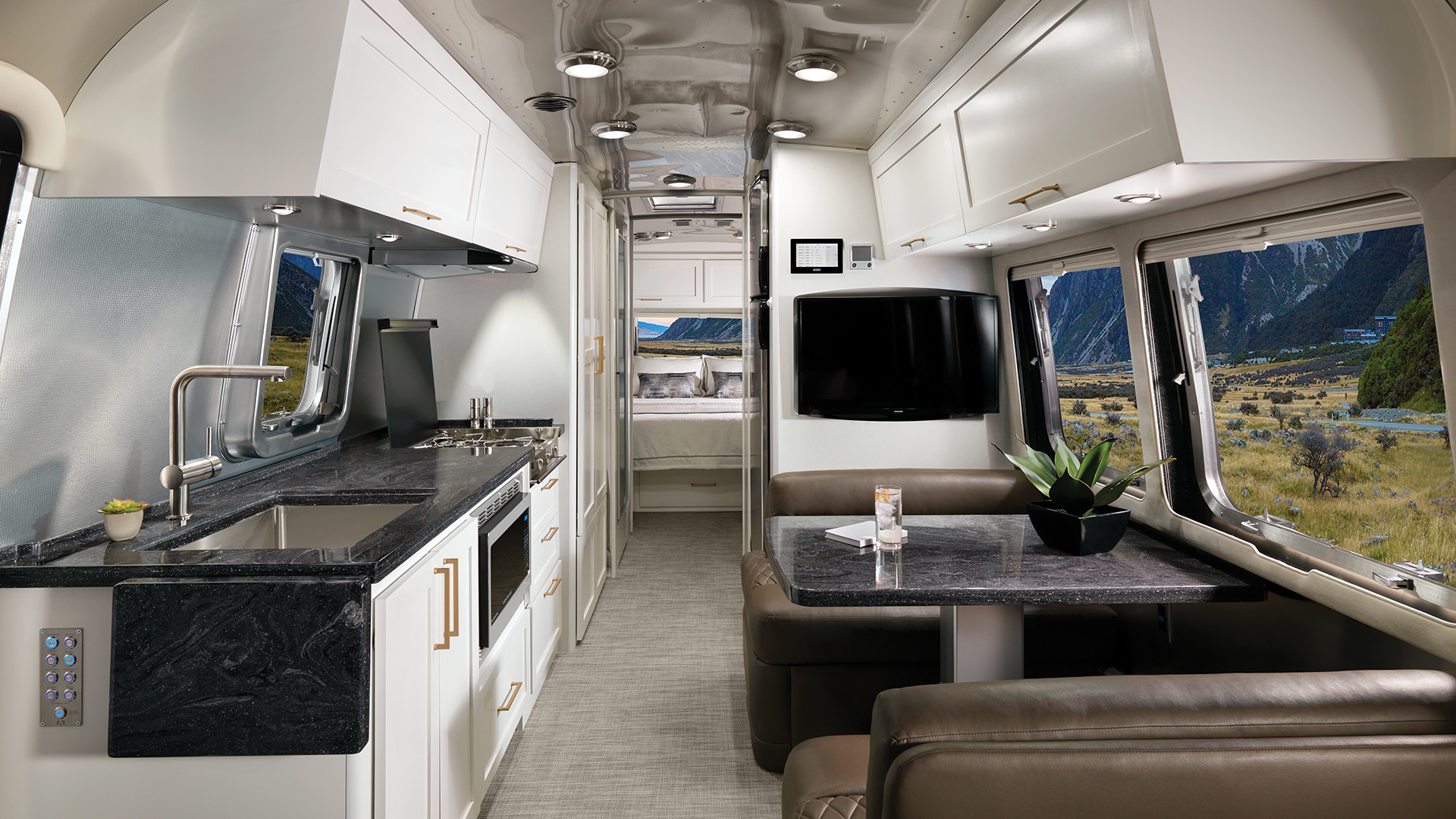 Airstream-Classic-30RB-Comfort-White-Cafe-Latte-Interior-Front-to-Back