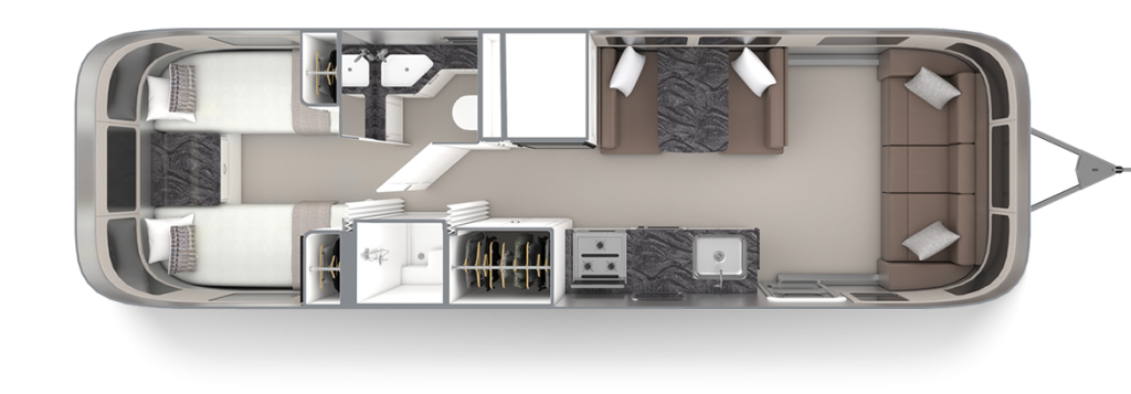 Airstream-Classic-30RB-Twin-Comfort-White-Cafe-Latte-Floor-Plan