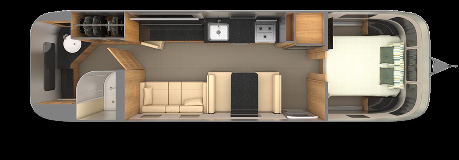 Airstream-Classic-33FB-Cognac-Maple-with-Macadamia-Floor-Plan