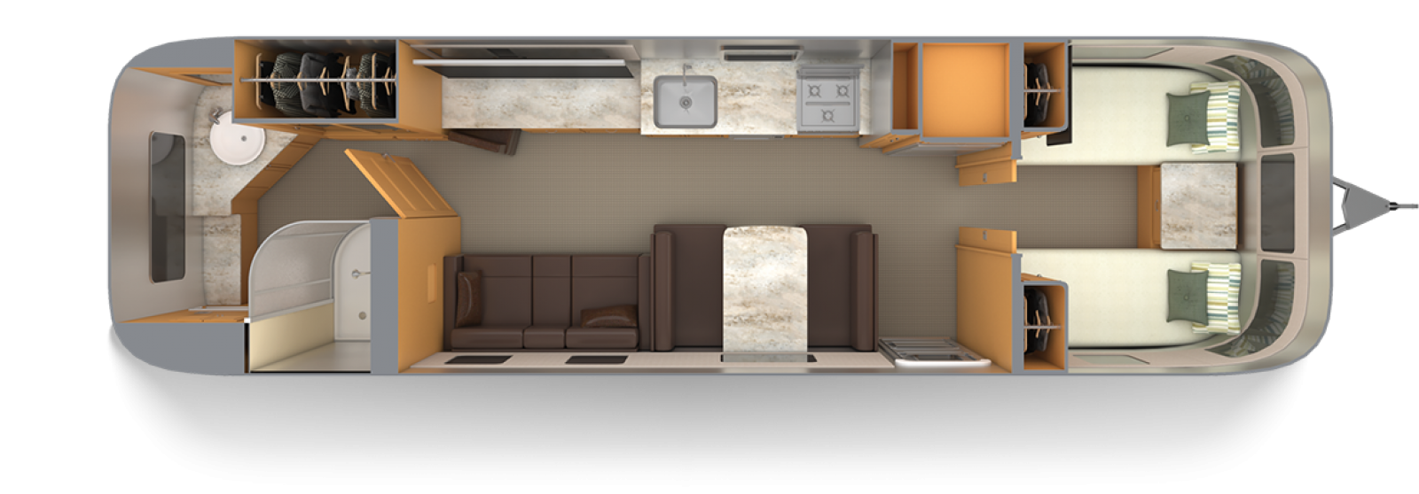 Airstream-Classic-33FB-Twin-Cognac-Maple-with-Chestnut-Floor-Plan
