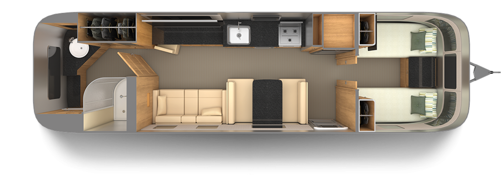 Airstream-Classic-33FB-Twin-Cognac-Maple-with-Macadamia-Floor-Plan