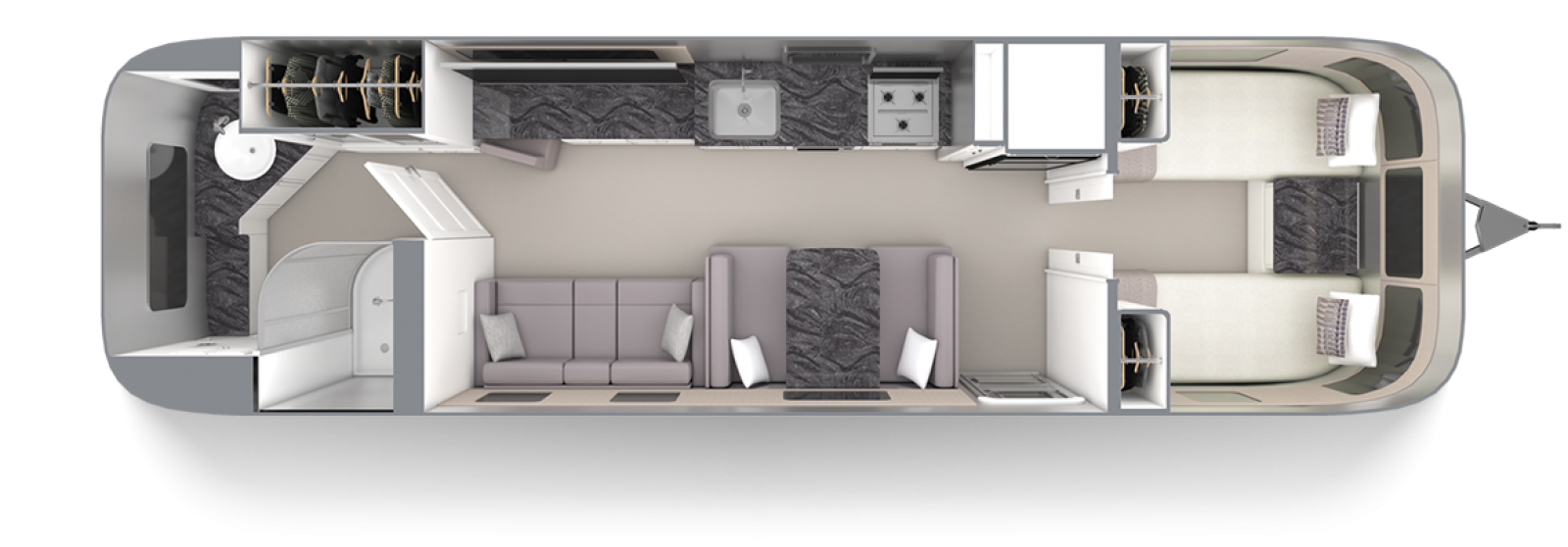 Airstream-Classic-33FB-Twin-Comfort-White-Earl-Grey-Floor-Plan