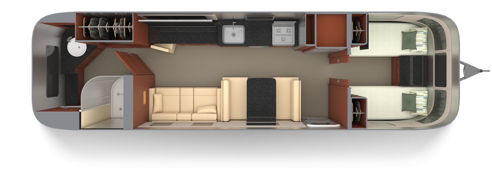 Airstream-Classic-33FB-Twin-Mocha-Cherry-with-Macadamia-Floor-Plan