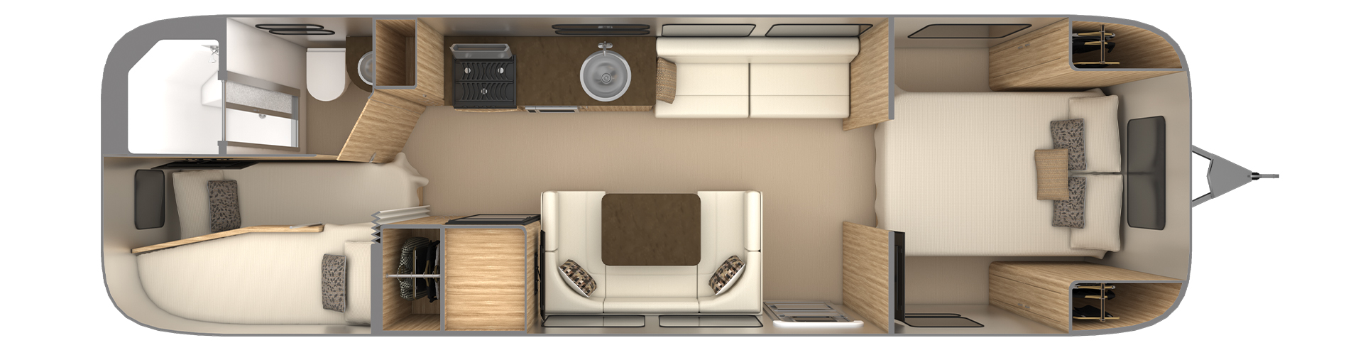 Airstream Flying Cloud 30FB Bunk