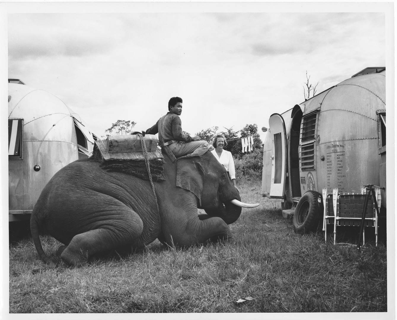 Fran Hall Photogrpahy Elephant and Airstream